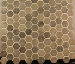 Hexagonal Grey Silver Mix Mosaic 301x290