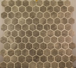 Hexagonal Silver Matt 301x290